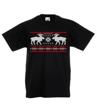 Skandynawskie święta - Koszulka z nadrukiem - Świąteczne - Dziecięca