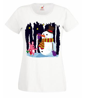 Nie ufam ładnej buzi - Koszulka z nadrukiem - Świąteczne - Damska