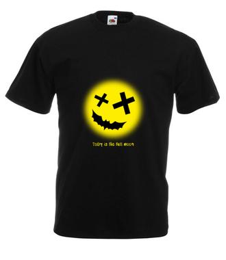 Gdy księżyc jest w pełni - Koszulka z nadrukiem - Świąteczne - Męska