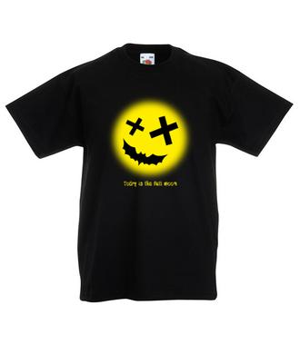 Gdy księżyc jest w pełni - Koszulka z nadrukiem - Świąteczne - Dziecięca