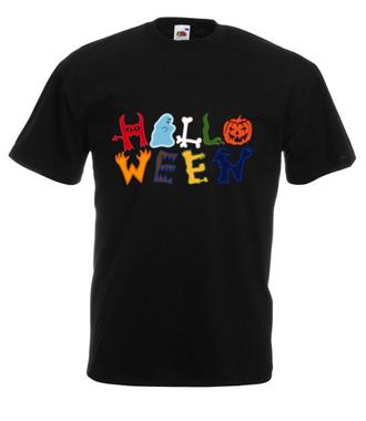 Halloween. Czas świąt. - Koszulka z nadrukiem - Świąteczne - Męska