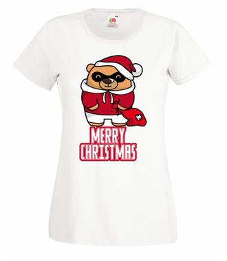 Wesołych Świąt, miśki! - Koszulka z nadrukiem - Świąteczne - Damska
