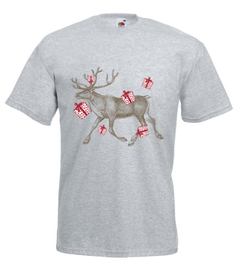Biegniemy po prezenty - Koszulka z nadrukiem - Świąteczne - Męska