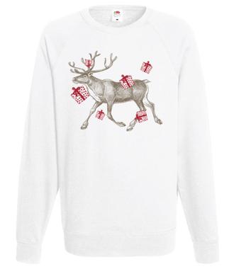 Biegniemy po prezenty - Bluza z nadrukiem - Świąteczne - Męska