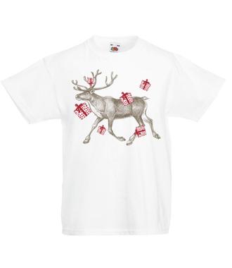 Biegniemy po prezenty - Koszulka z nadrukiem - Świąteczne - Dziecięca