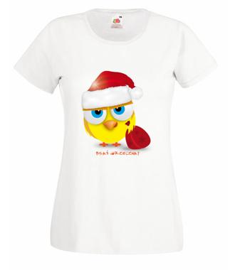 Byłaś grzeczna - powiedz prawdę! - Koszulka z nadrukiem - Świąteczne - Damska