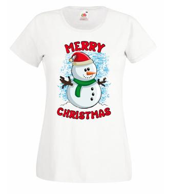 Wesołych przede wszystkim! - Koszulka z nadrukiem - Świąteczne - Damska