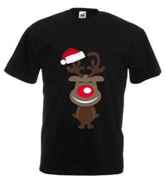 Hopsa-sa reniferku! - Koszulka z nadrukiem - Świąteczne - Męska
