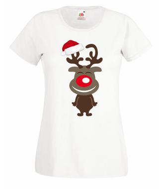 Hopsa-sa reniferku! - Koszulka z nadrukiem - Świąteczne - Damska