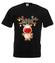 Ustrojony renifer koszulka z nadrukiem swiateczne mezczyzna werprint 497 1