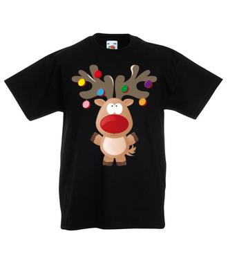 Ustrojony renifer - Koszulka z nadrukiem - Świąteczne - Dziecięca