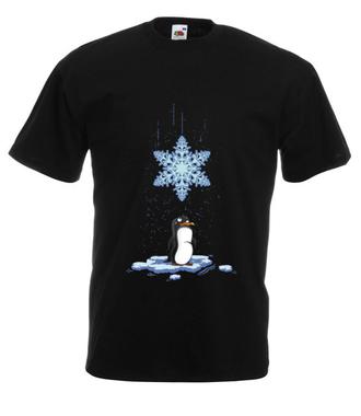 Pada śnieg, pada śnieg! - Koszulka z nadrukiem - Świąteczne - Męska