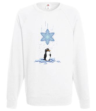 Pada śnieg, pada śnieg! - Bluza z nadrukiem - Świąteczne - Męska