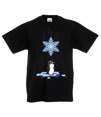 Pada śnieg, pada śnieg! - Koszulka z nadrukiem - Świąteczne - Dziecięca