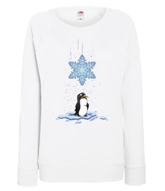 Pada snieg pada snieg bluza z nadrukiem swiateczne kobieta werprint 499 114