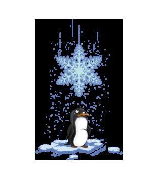 Pada śnieg, pada śnieg! - Bluza z nadrukiem - Świąteczne - Damska
