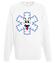 Ze sniegiem mi do twarzy bluza z nadrukiem swiateczne mezczyzna werprint 502 106