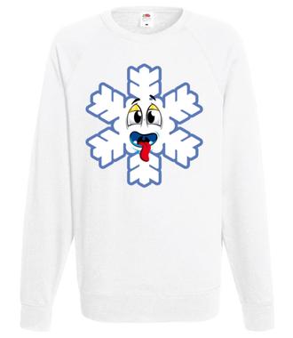 Ze śniegiem mi do twarzy - Bluza z nadrukiem - Świąteczne - Męska