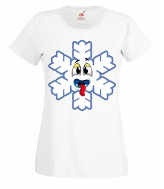 Ze śniegiem mi do twarzy - Koszulka z nadrukiem - Świąteczne - Damska