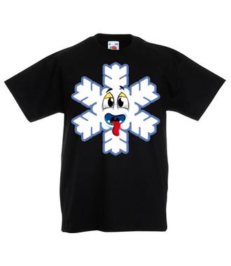 Ze śniegiem mi do twarzy - Koszulka z nadrukiem - Świąteczne - Dziecięca