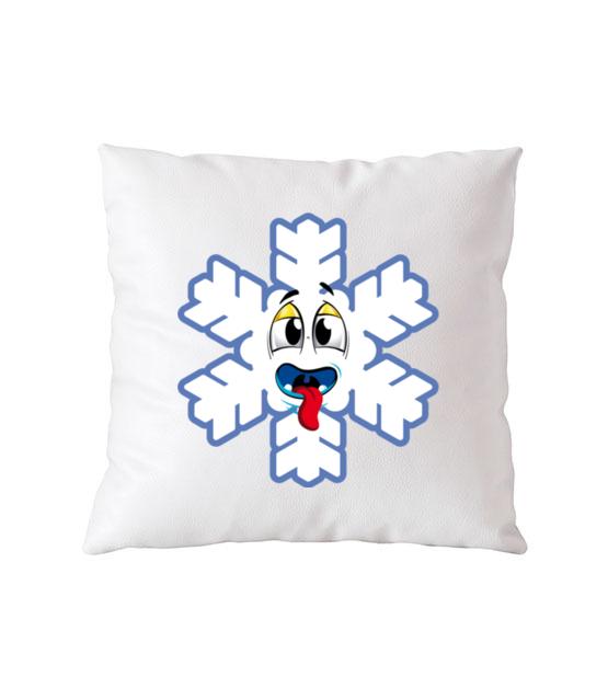 Ze sniegiem mi do twarzy poduszka z nadrukiem swiateczne gadzety werprint 502 164