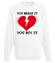 Nie pekaj ja cie kocham bluza z nadrukiem na walentynki mezczyzna werprint 56 106