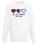 Wszystkie moje serca sa dla ciebie bluza z nadrukiem na walentynki mezczyzna werprint 62 106