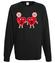 Milosc nie wybiera serce nie rozum bluza z nadrukiem na walentynki mezczyzna werprint 65 107