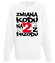 Zmiana kodu na 2 z przodu bluza z nadrukiem urodzinowe mezczyzna werprint 76 106