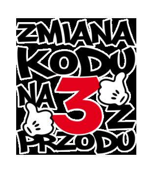 Zmiana kodu na 3 z przodu grafika na bluze meska 77