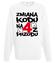 Zmiana kodu na 4 z przodu bluza z nadrukiem urodzinowe mezczyzna werprint 78 106