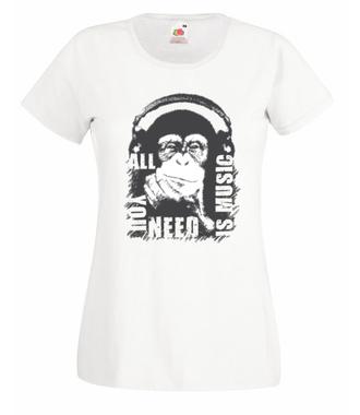 Bo muzyka jest tym, czego potrzebujesz - Koszulka z nadrukiem - Muzyka - Damska