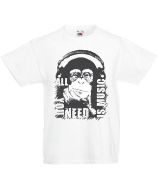 Bo muzyka jest tym, czego potrzebujesz - Koszulka z nadrukiem - Muzyka - Dziecięca