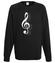 Klucz do muzycznych serc bluza z nadrukiem muzyka mezczyzna werprint 111 107
