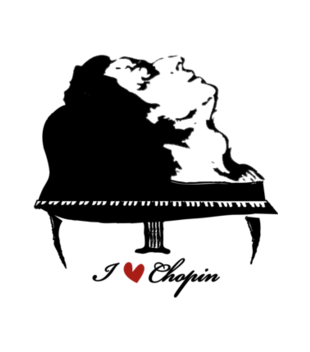 Chopinowe l ve grafika na bluze meska 122