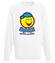 Bo usmiech jest dobry na wszystko bluza z nadrukiem smieszne mezczyzna werprint 141 106