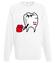 Bo zaraz dostaniesz w zeby bluza z nadrukiem smieszne mezczyzna werprint 144 106
