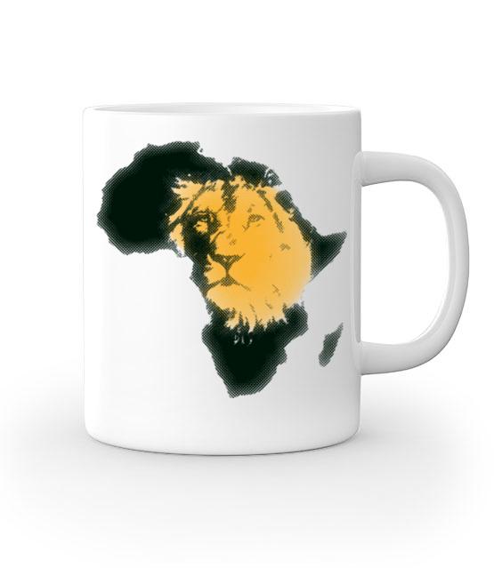 Kraina wielkiego lwa kubek z nadrukiem zwierzeta gadzety werprint 428 159