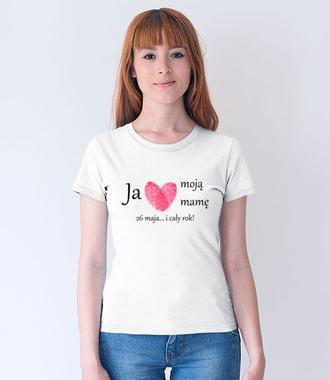 Kocham mamę – nie tylko od święta! - Koszulka z nadrukiem - Dla mamy - Damska