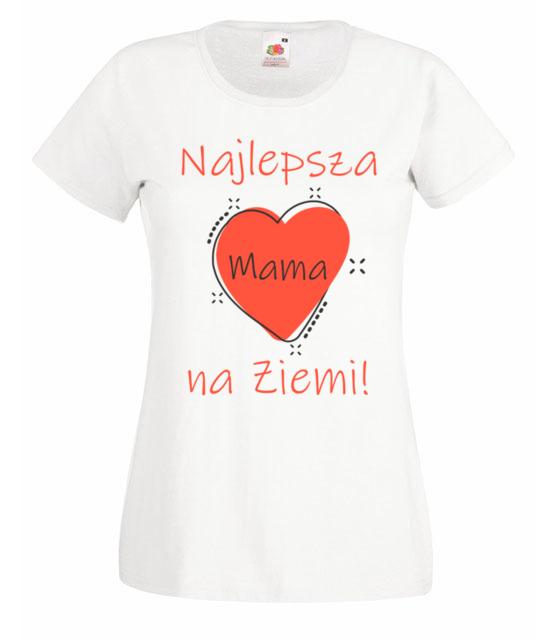 Moja mama najlepsza koszulka z nadrukiem dla mamy kobieta werprint 507 58