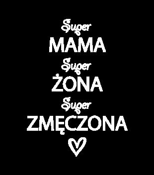 Zmeczona matka i zona grafika na bluze damska 524