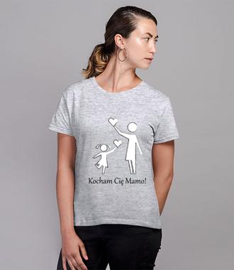 Mamo, jak ja Cię kocham! - Koszulka z nadrukiem - Dla mamy - Damska