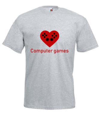 Miłośnik gry komputerowej - Koszulka z nadrukiem - dla Gracza - Męska