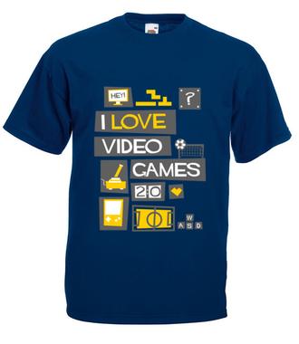 Miłośnik gier komputerowych - Koszulka z nadrukiem - dla Gracza - Męska