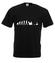 Gamer ewolucja koszulka z nadrukiem dla gracza mezczyzna werprint 555 1