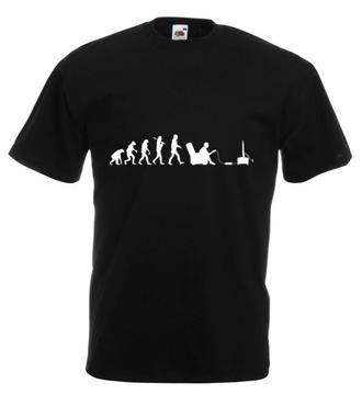 Gamer - ewolucja - Koszulka z nadrukiem - dla Gracza - Męska