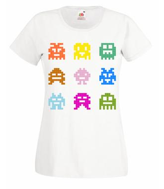 Robaczki - zjadaczki - Koszulka z nadrukiem - dla Gracza - Damska