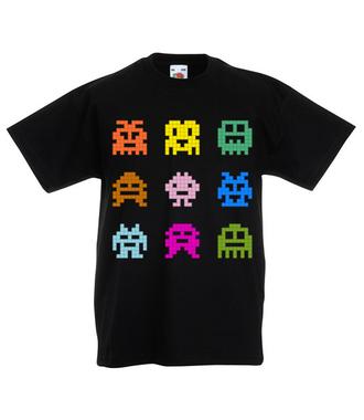 Robaczki - zjadaczki - Koszulka z nadrukiem - dla Gracza - Dziecięca