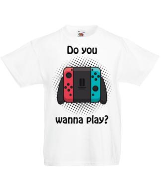Chcesz zagrać? Twoja kolej. - Koszulka z nadrukiem - dla Gracza - Dziecięca