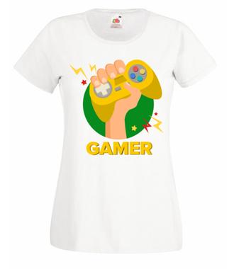 Zawodowy gracz - Koszulka z nadrukiem - dla Gracza - Damska